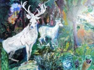 伝説の動物~白鹿~ダイナビアンコ命名の由来です